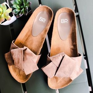 NWOT BP. Suede Slide Sandals